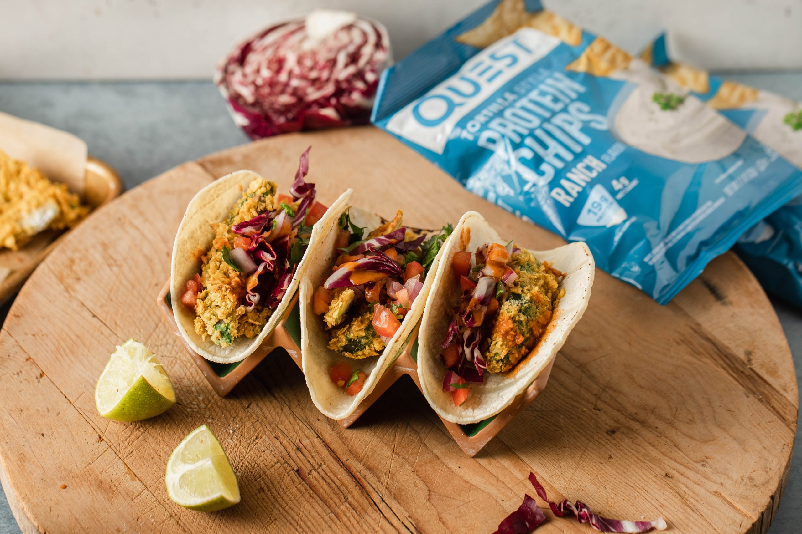 Air-Fried Avocado Tacos using Quest Protein Chips!